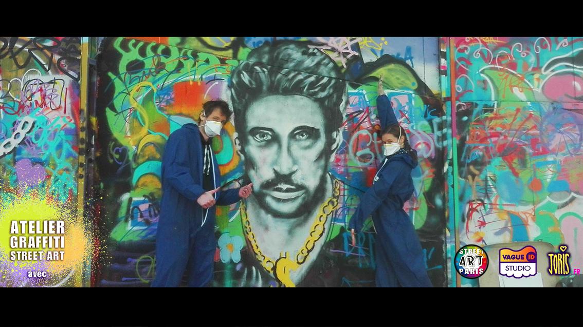 COURS-GRAFFITI-STREET-ART-PARIS-HOMMAGE-JOHNNY-HALYDAY-PORTRAIT