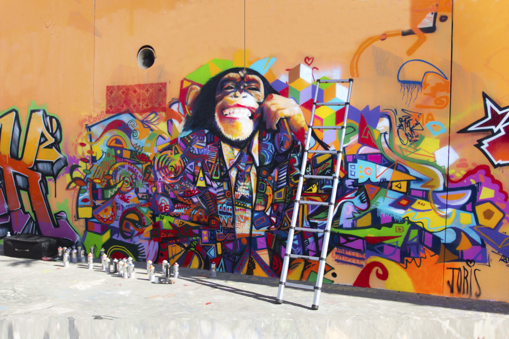 STREET-ART-PARIS-GRAFFITI-MONTPELLIER-MONKEY-BUSINESS-BY-JORIS