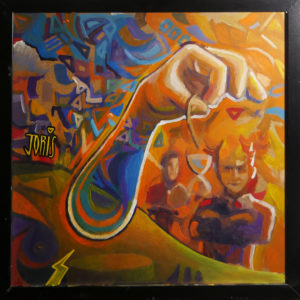 Joris Delacour TIME 50 x 50 x 1 Acrilique, Pinceau 600 €