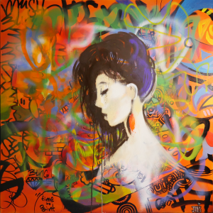 Joris Delacour TIME TO PAINT 100 x 100 x 1,5 Graffiti, Pinceau, Encre, Marqueur 800 €